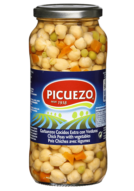 Picuezo chickpeas with vegetables